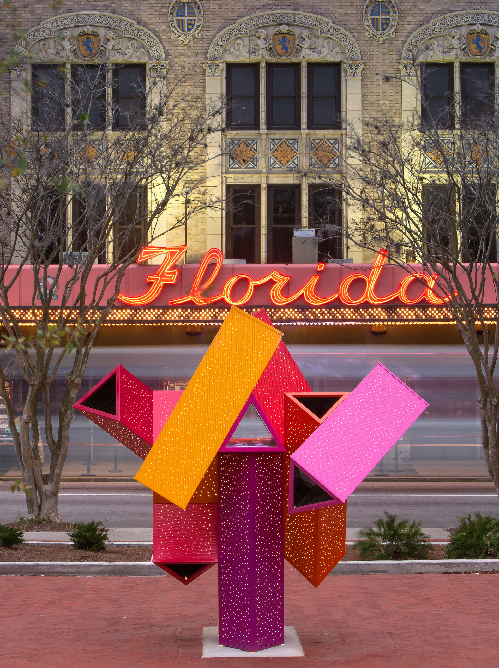 JAXOSCOPE: a public art sculpture by Shasti O'Leary Soudant, infant of the Florida Theater